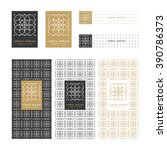 collection of design elements... | Shutterstock .eps vector #390786373