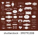 set of calligraphic elements... | Shutterstock .eps vector #390791308