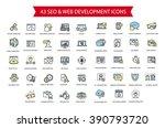 43 seo and web development thin ... | Shutterstock .eps vector #390793720
