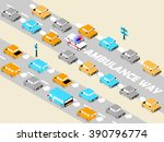 beautiful isometric design of... | Shutterstock .eps vector #390796774