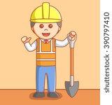 industrial worker | Shutterstock . vector #390797410