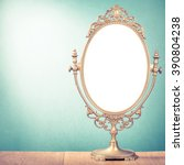 old makeup mirror frame on... | Shutterstock . vector #390804238
