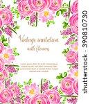 vintage delicate invitation... | Shutterstock .eps vector #390810730