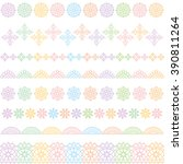 colorful lace lines. lace trim. | Shutterstock .eps vector #390811264