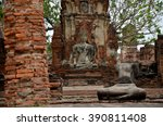 broken buddha statue and