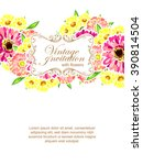 abstract flower background with ... | Shutterstock . vector #390814504