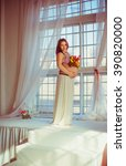 beautiful pregnant woman | Shutterstock . vector #390820000