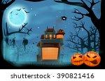 house in forest   Shutterstock .eps vector #390821416