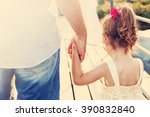 toned portrait of father and... | Shutterstock . vector #390832840