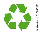 green recycle or recycling... | Shutterstock .eps vector #390840523