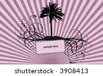 palms floral retro background... | Shutterstock .eps vector #3908413