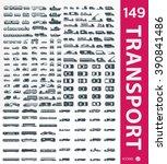 transportation icons | Shutterstock .eps vector #390841486