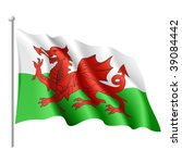 Flag Of Wales. Vector...