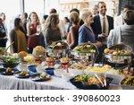 food buffet catering dining...   Shutterstock . vector #390860023