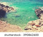 Постер, плакат: Transparent blue water of