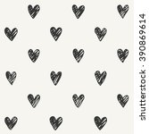 Hand Drawn Heart Pattern Desig...