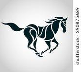 Stock vector horse logo vector 390875689