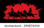 samurai warriors riding horses  ...