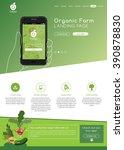 organic farm web site landing...