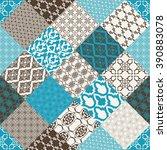 seamless patchwork background....   Shutterstock .eps vector #390883078