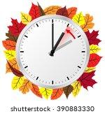 vector illustration of a clock... | Shutterstock .eps vector #390883330