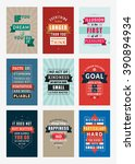 Set of Inspirational and Motivational Quotes Typographic Posters. Vector Illustration in Flat Style. Vector Quote. Poster Template | Shutterstock vector #390894934