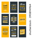 set of inspirational and... | Shutterstock .eps vector #390894964
