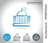 governance icon set  collection ... | Shutterstock .eps vector #390895060