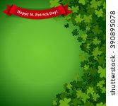 abstract st. patrick's day... | Shutterstock .eps vector #390895078
