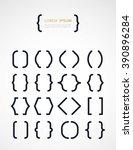 set of different  brackets | Shutterstock .eps vector #390896284