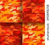 Set Of 4 Fashion Camouflage...