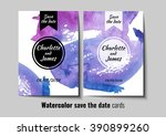 save the date watercolor card's ... | Shutterstock .eps vector #390899260
