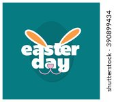happy easter bunny card | Shutterstock .eps vector #390899434