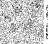 coloring book page design with... | Shutterstock .eps vector #390899959