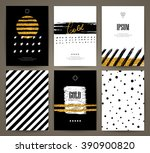 set of brochures with hand... | Shutterstock .eps vector #390900820