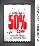 clearance sale flyer  banner or ...   Shutterstock .eps vector #390915034