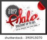 creative sale flyer  banner or... | Shutterstock .eps vector #390915070