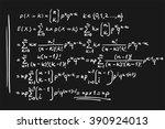 math formulas   Shutterstock .eps vector #390924013