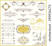 vector set of ornate... | Shutterstock .eps vector #390926173