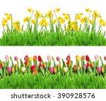 Border Of Bright Spring Yellow...