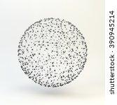 3d sphere. global digital... | Shutterstock .eps vector #390945214