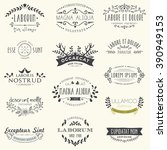 retro vintage hand drawn... | Shutterstock .eps vector #390949153