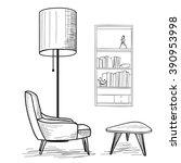 Living Room. Reading Interior...