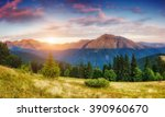 picturesque view of the... | Shutterstock . vector #390960670