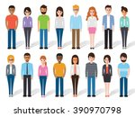 group of working people... | Shutterstock .eps vector #390970798