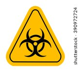 warning icon in yellow... | Shutterstock .eps vector #390972724