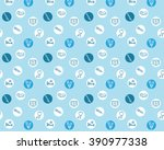 blue medical background ... | Shutterstock .eps vector #390977338