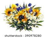 Composition With Sunflowers An...