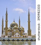masjid  mosque  kristal in...   Shutterstock . vector #390982333