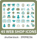 45 web shop icons. vector | Shutterstock .eps vector #39098236